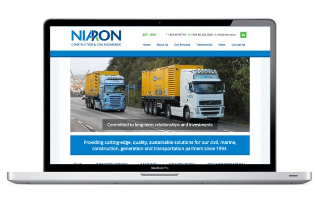 Niaron Ltd New Mobile Responsive Website