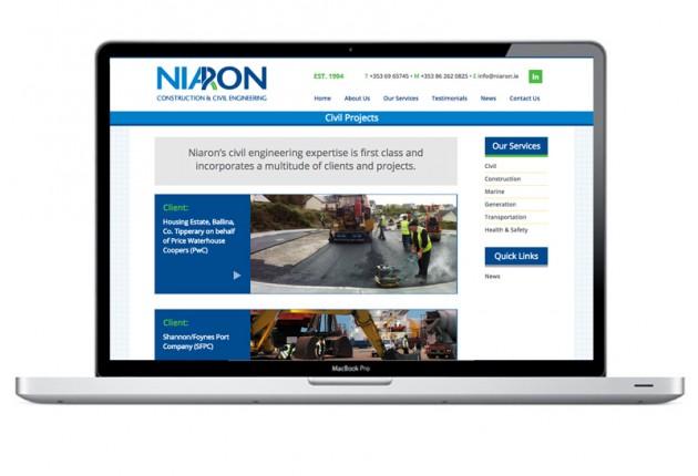Niaron Ltd New Mobile Responsive Website