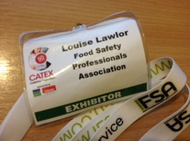 Catex: Helping out at the FSPA Stand (Food Safety Professionals Association)