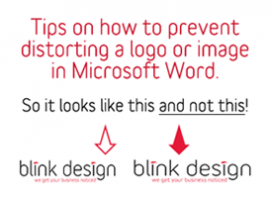 How do you prevent distorting your logo or a photograph in Microsoft Word?